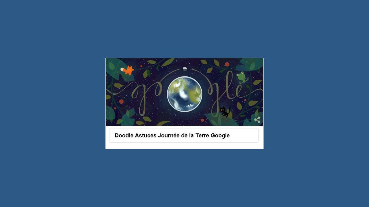 Doodle Astuces Journée de la Terre 2017