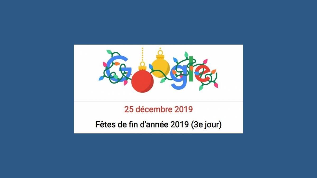 Doodle Joyeuses Fêtes 2019 by Google