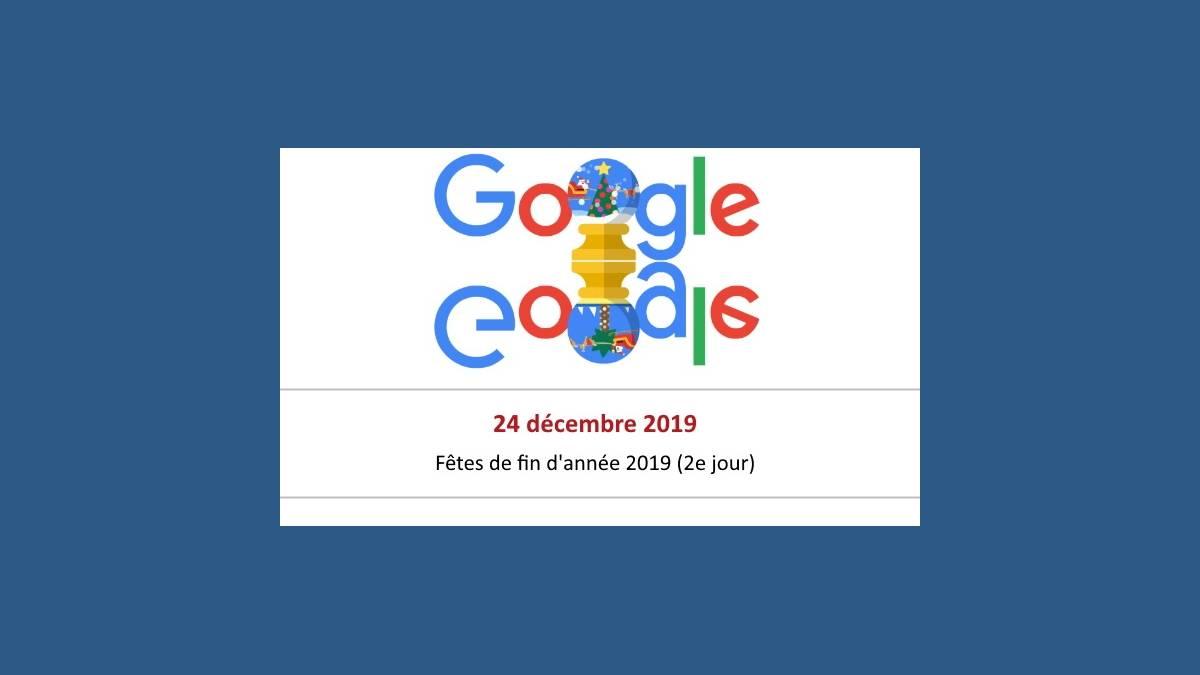 Doodle Joyeuses Fêtes 2019 de Google 2e jour