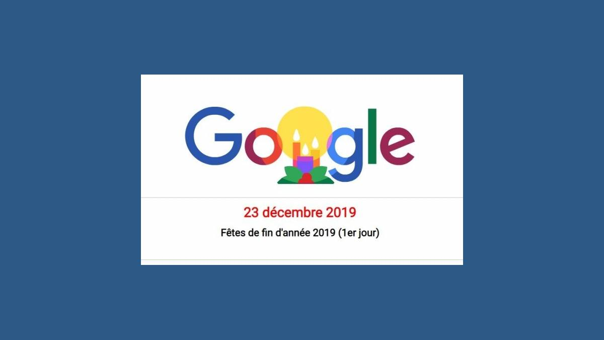 Doodle Joyeuses Fêtes 2019 de Google