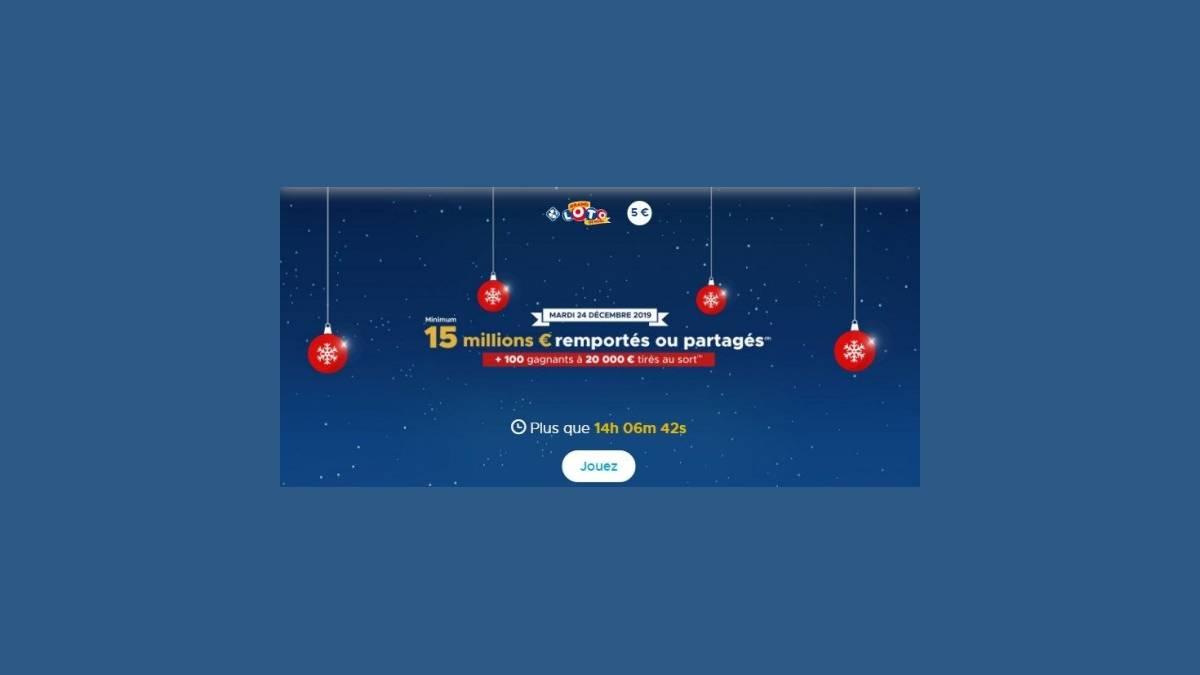 Grand Loto de Noël - Super Jackpot de 15 millions d'euros