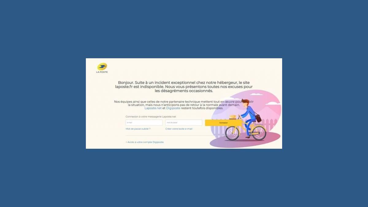Panne site Internet La Poste laposte.fr