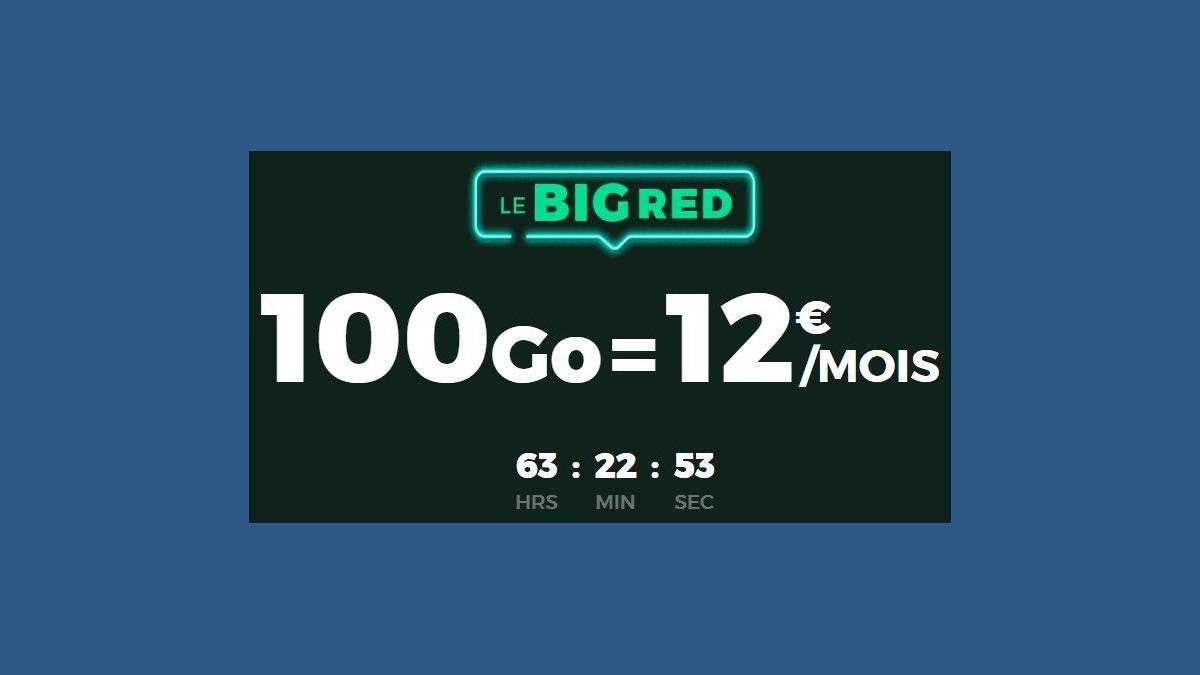 « Le Big Red » RED by SFR 100 Go à 12 € sans engagement