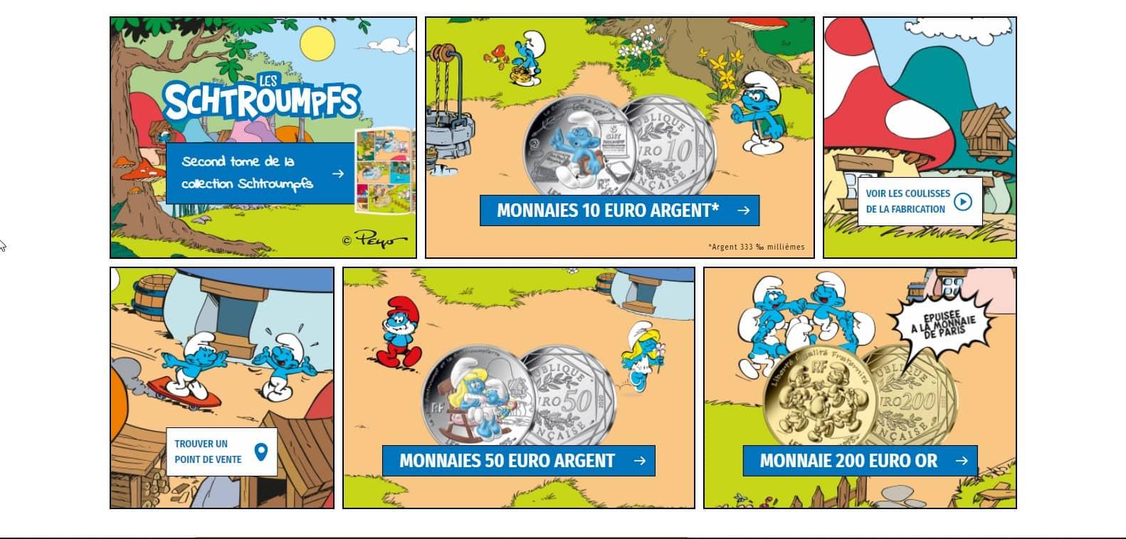 Les Schtroumpfs à la Monnaie de Paris