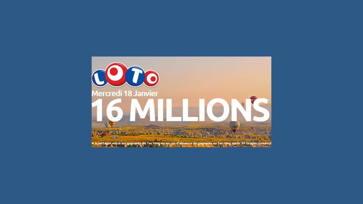 Loto super jackpot de 16 millions d'euros