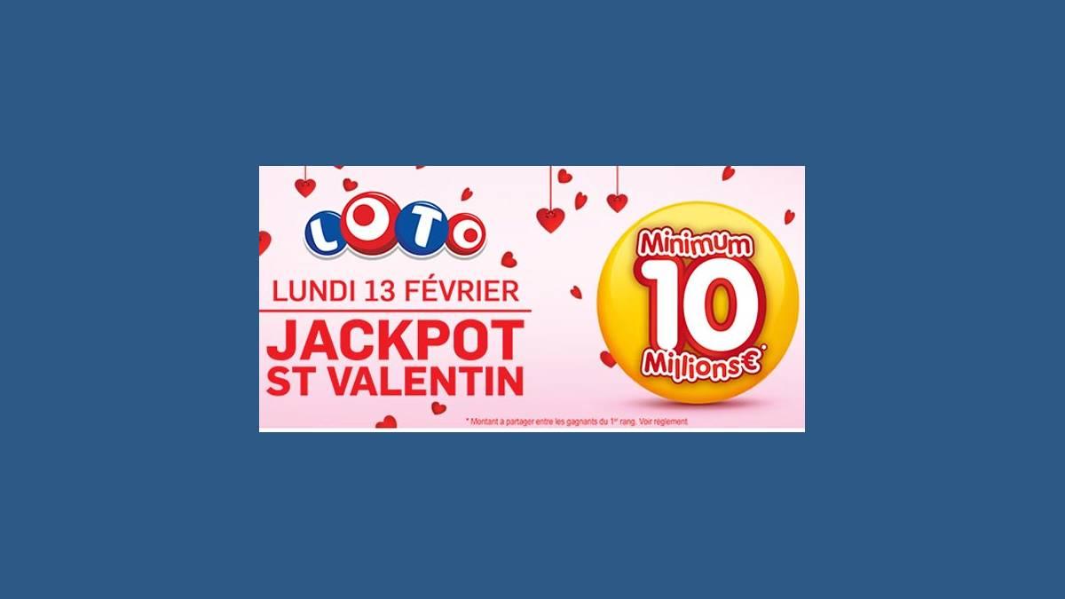 Loto super jackpot de 10 millions d'euros pour la Saint-Valentin