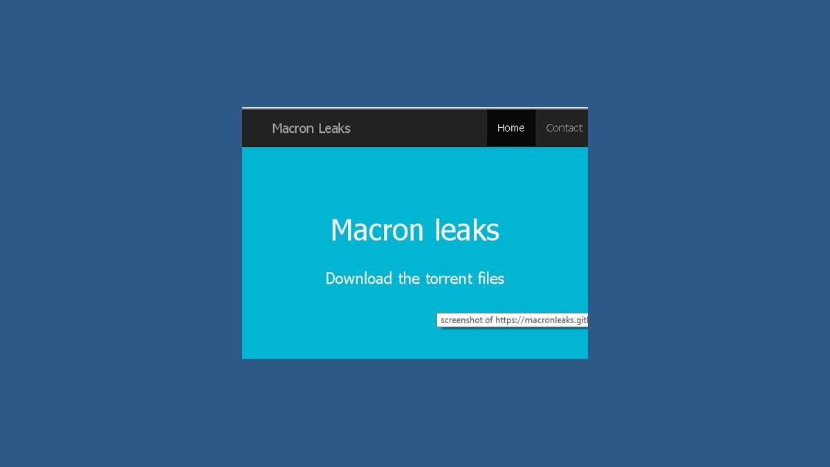 #MacronLeaks capture torrent files archive.js