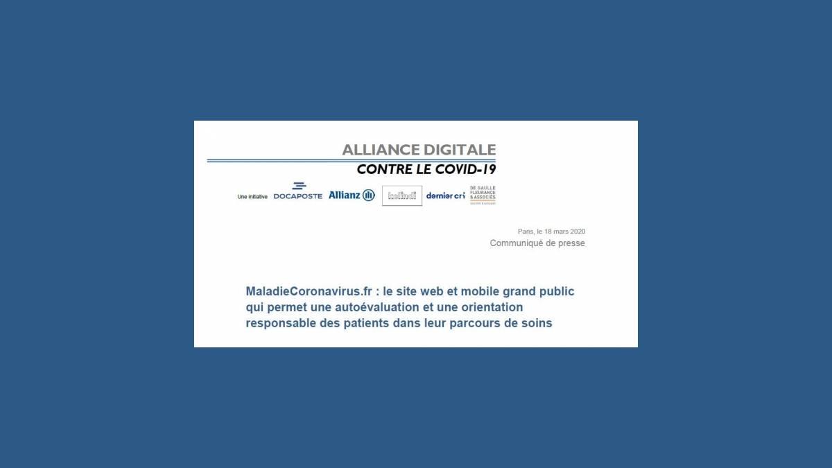 Test Coronavirus sur MaladieCoronavirus.fr