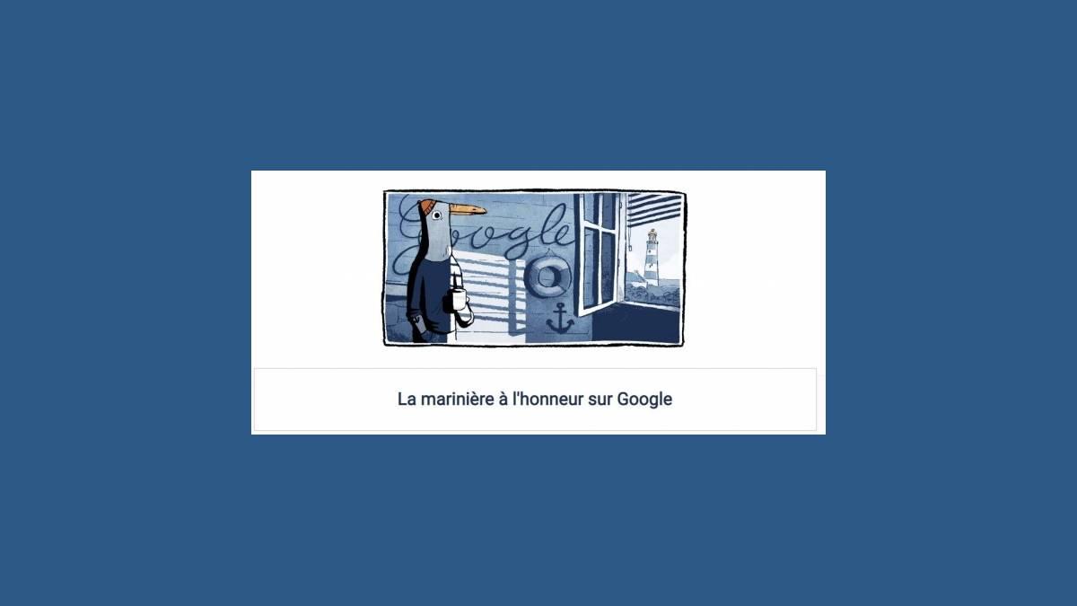 La marinière est à l'honneur sur Google
