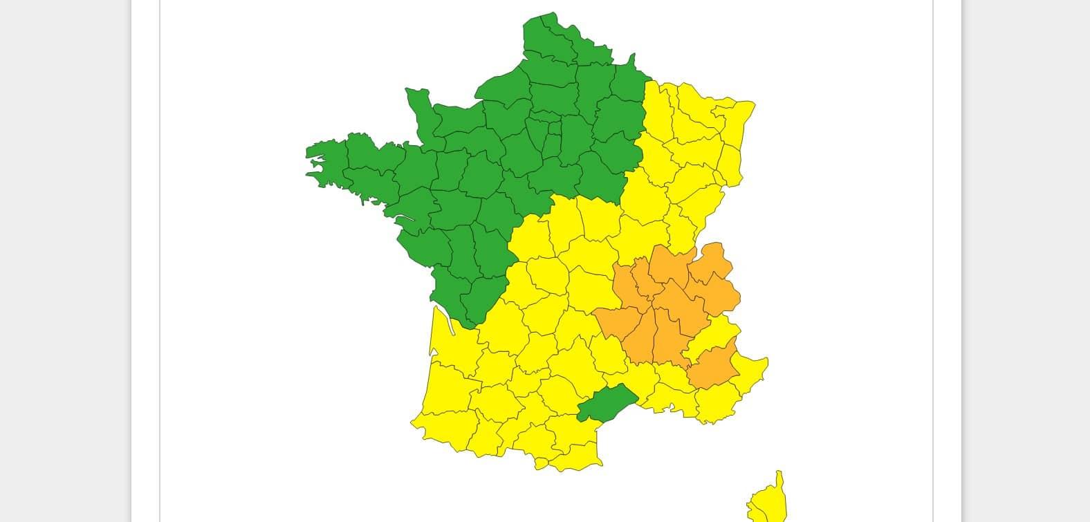 Météo France : alerte orange à la canicule et aux orages