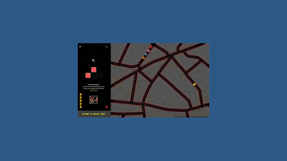 Miss Pac-Man sur Google Maps