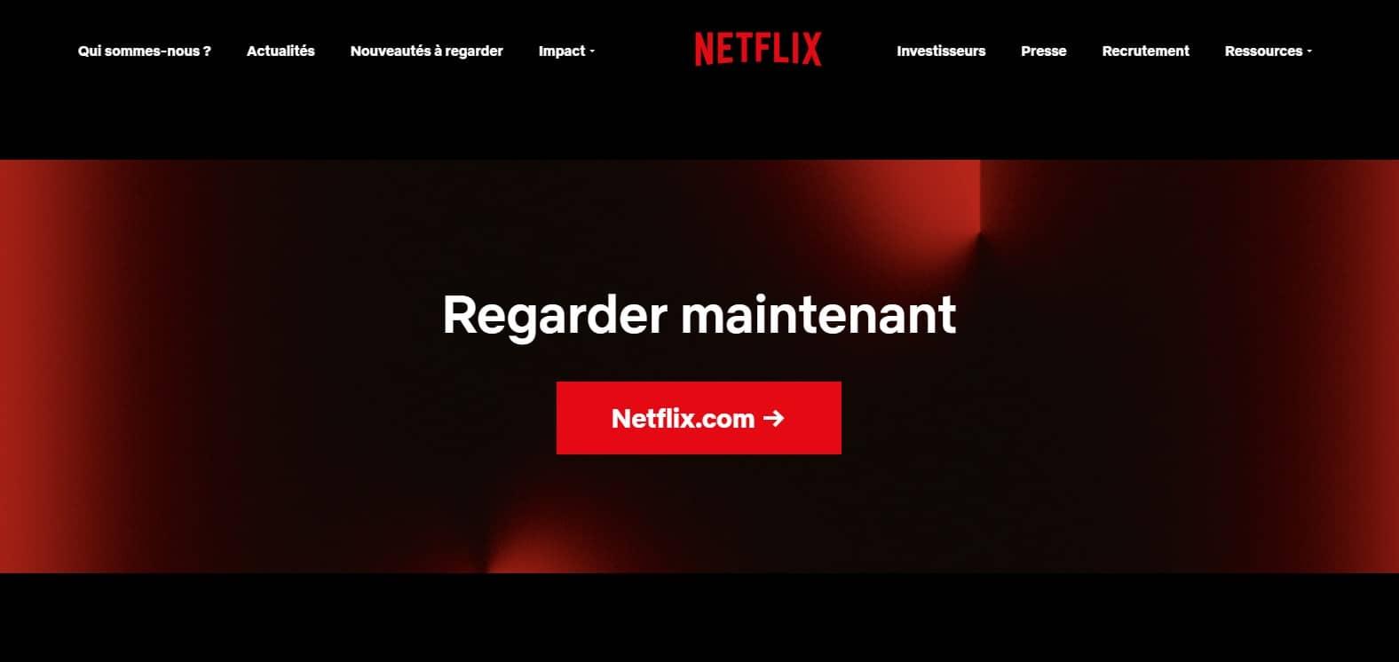 Portail Netflix films et séries en streaming