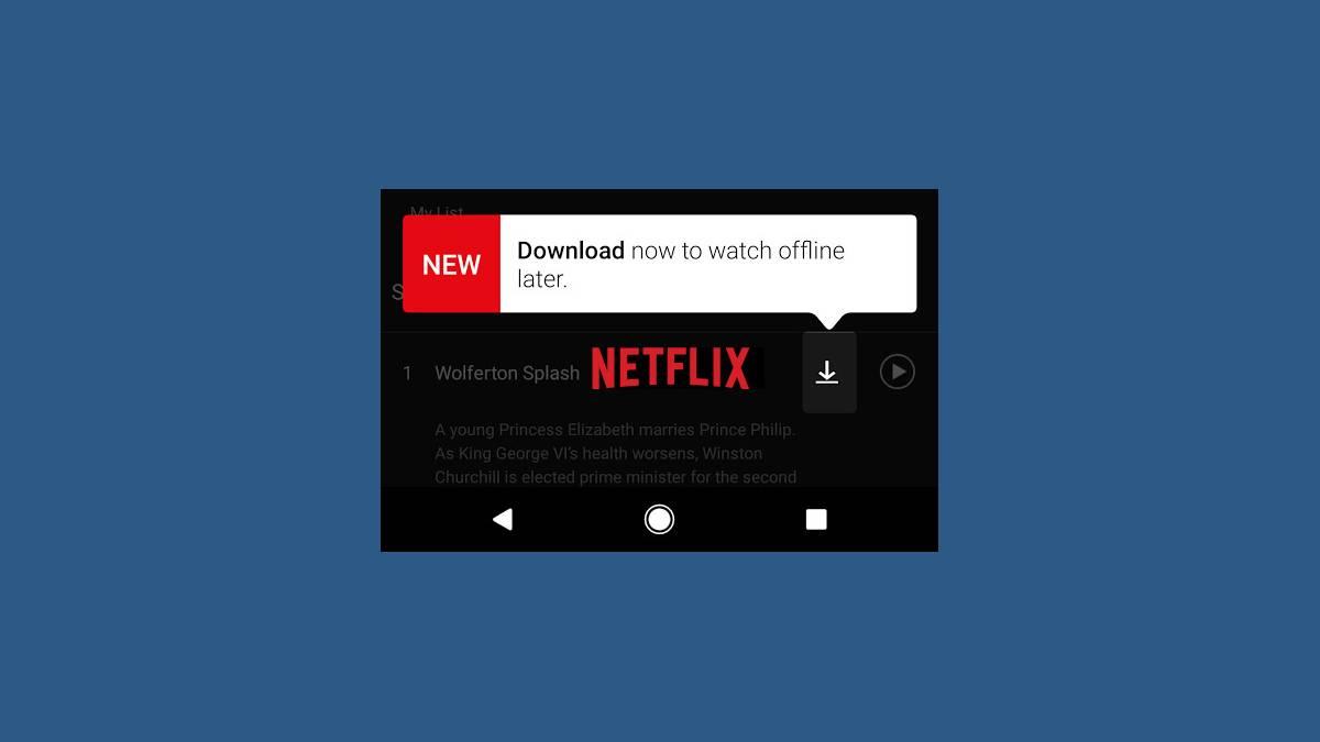 Netflix, VOD, téléchargement, film, série, Android, iOS