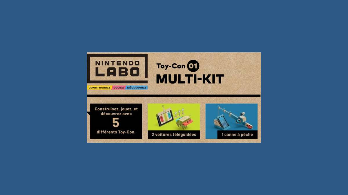 Présentation produit du Multi-Kit Nintendo Labo en France