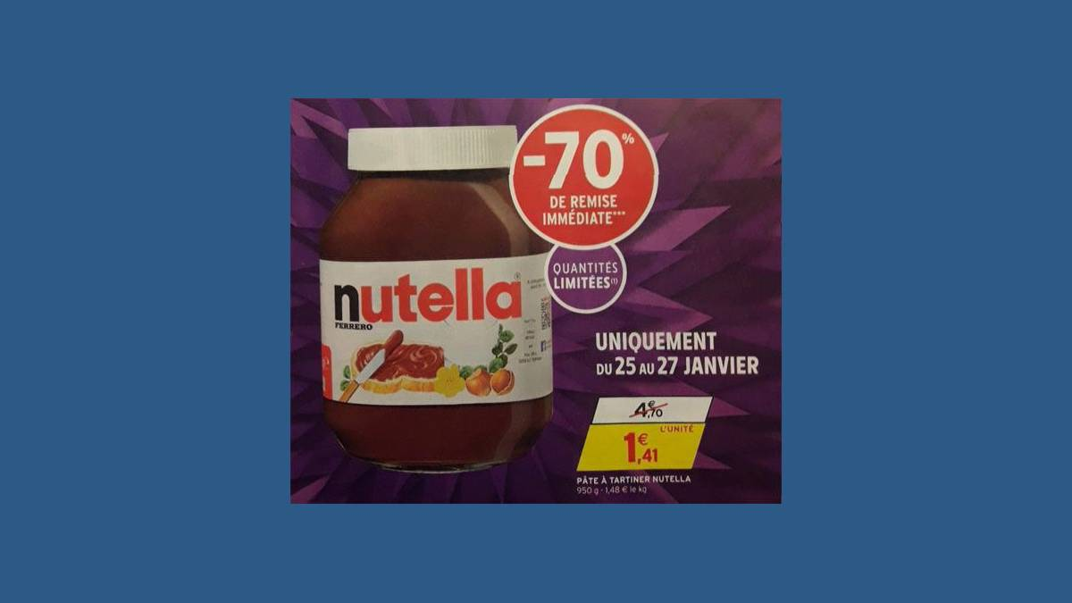 Capture promotion Nutella catalogue Intermarché