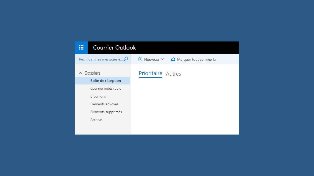 Boite de réception Outlook.com