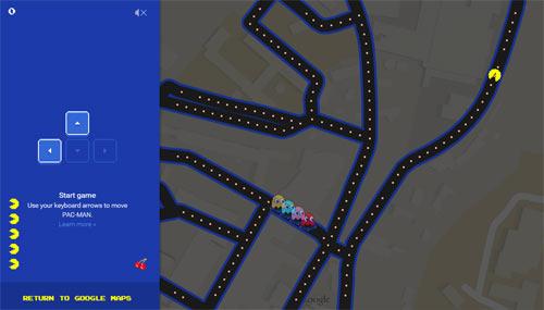 Image Pac-Man sur Google Maps