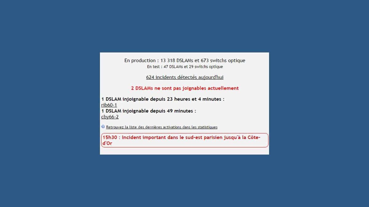 Panne Free ADSL en Seine et Marne et Cote d