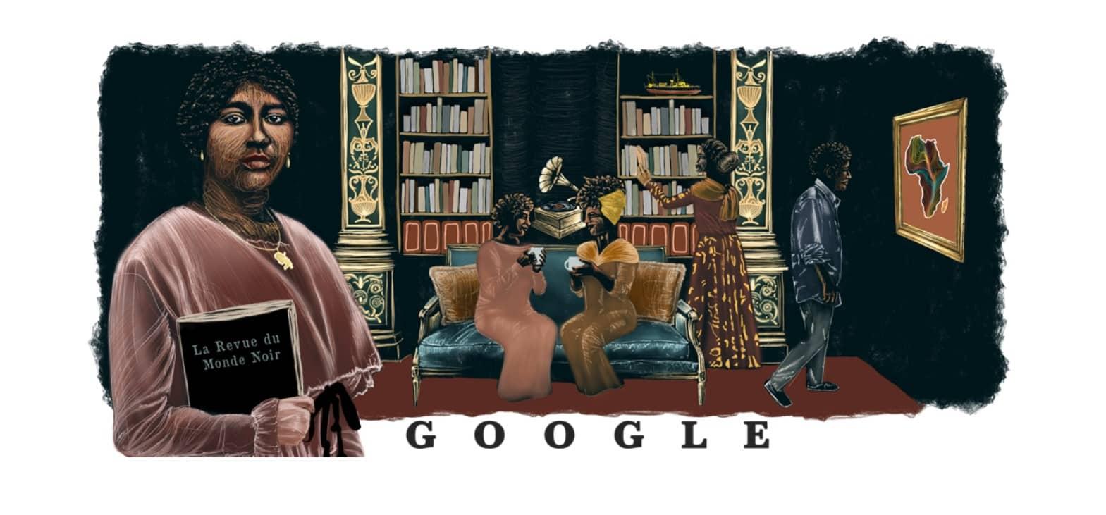 Doodle Google Paulette Nardal « La Revue du Monde Noir »