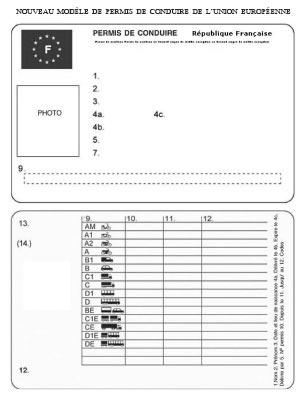 permis carte à puce UE