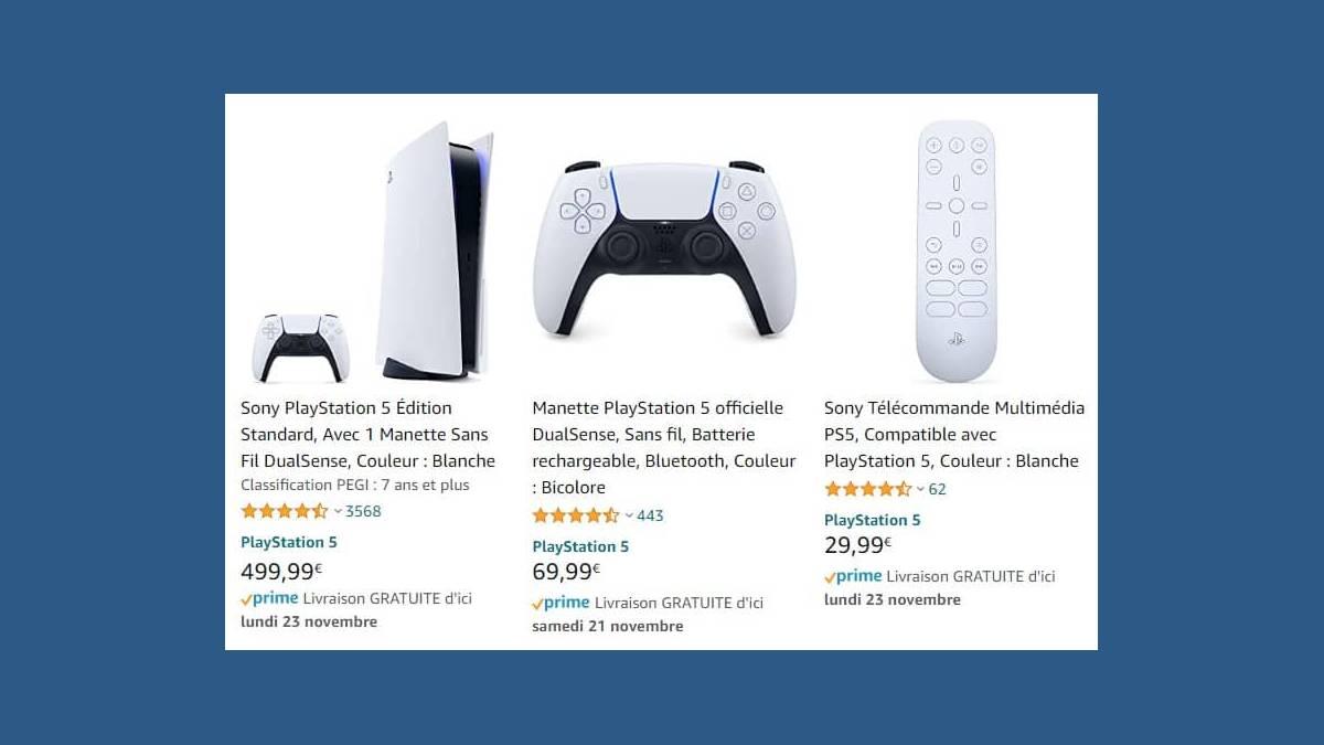 La console PS5 de Sony en stock sur Amazon... ou pas ?