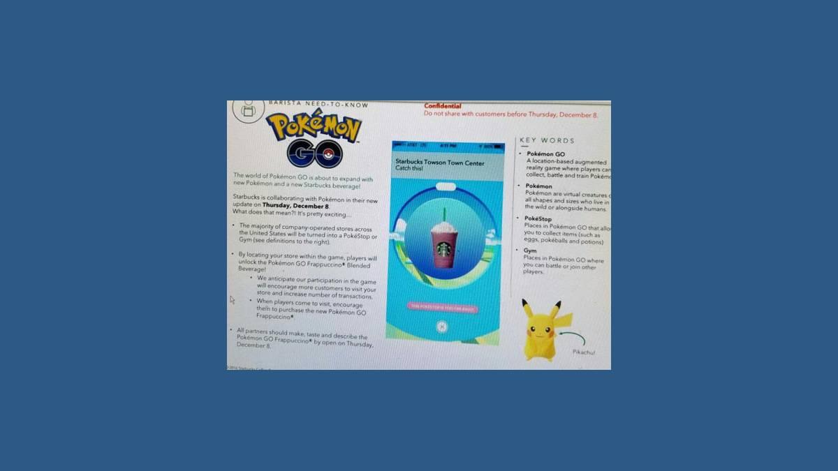 Pokémon Go partenariat avec Starbucks