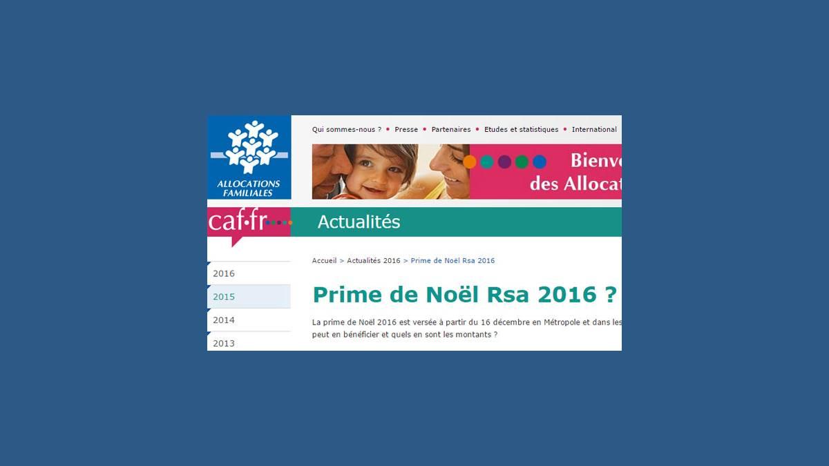 Caf La Prime De No 235 L Rsa Sera T Elle Reconduite En 2016