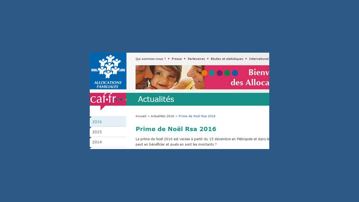 Caf La Prime De Noel Rsa Est Reconduite En 2016 Dates Et Montants