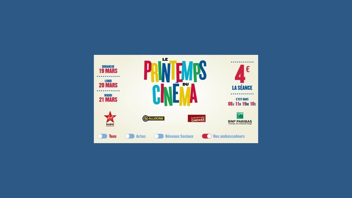 18ème édition du « Printemps du Cinéma »