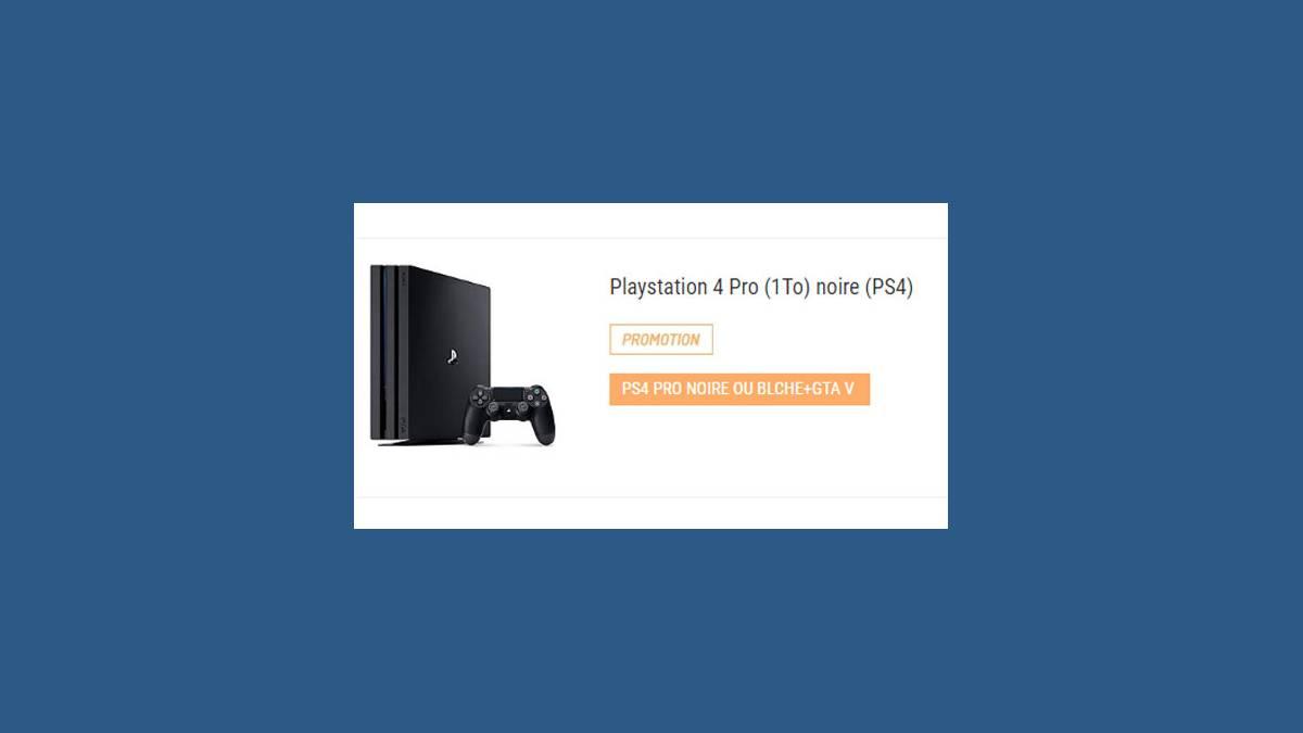 PS4 Pro 1To en promotion chez Leclerc