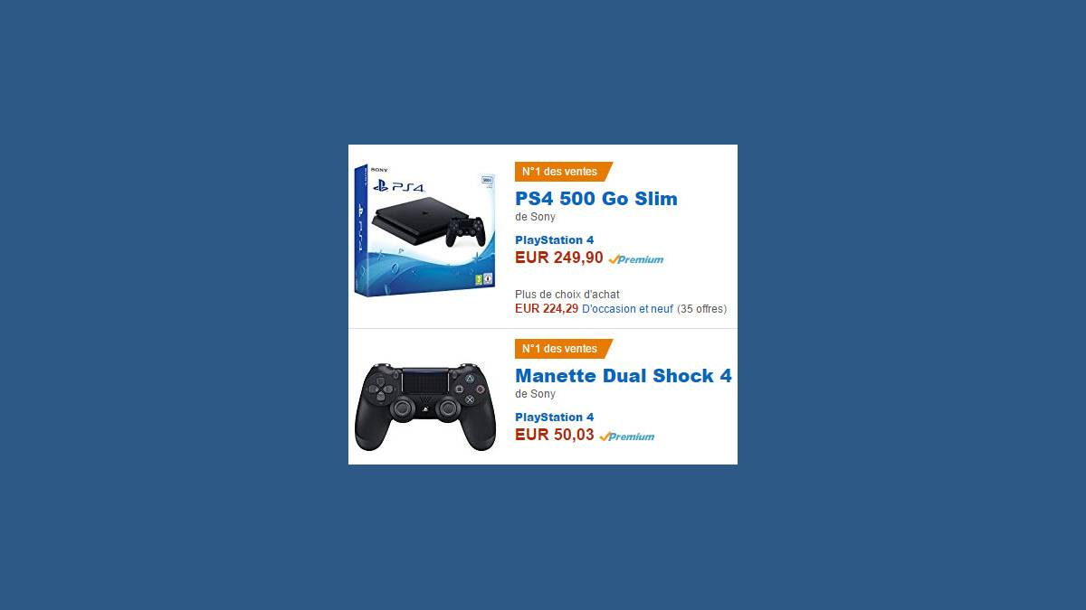 PS4 Slim N 1 des ventes sur Amazon