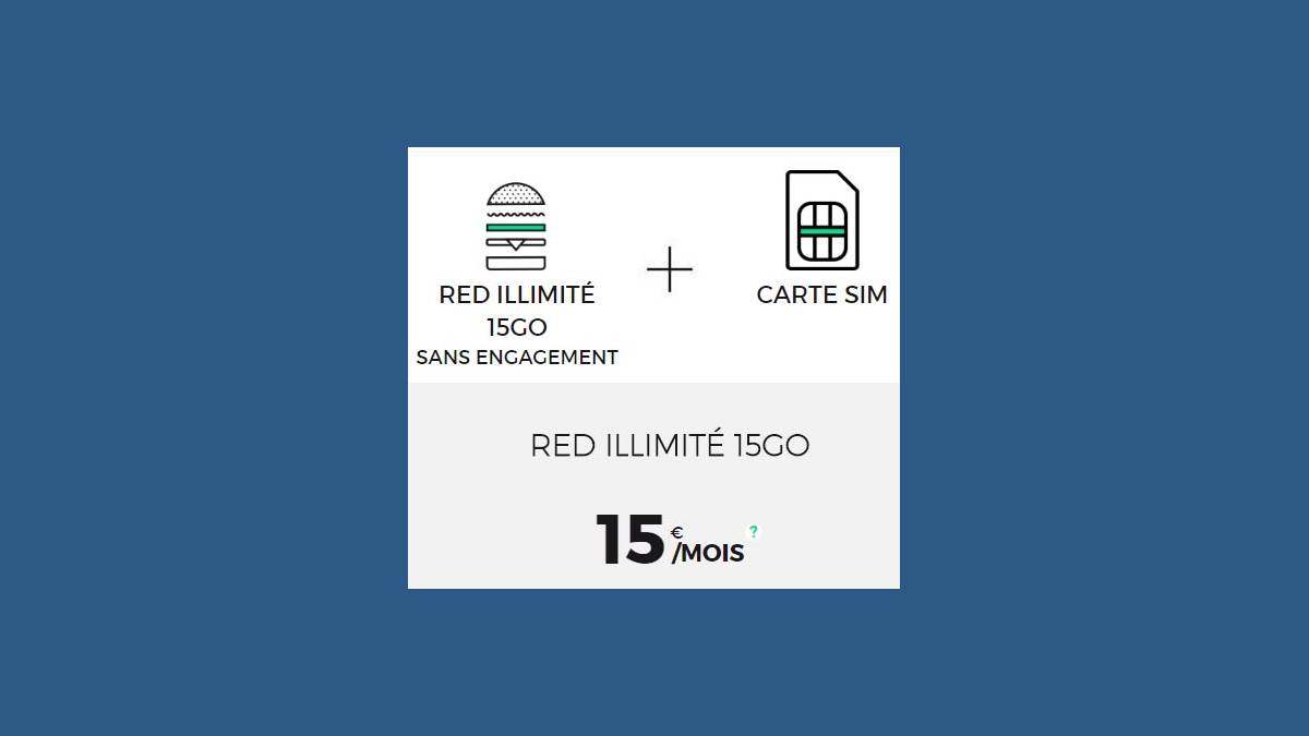 Capture RED by SFR 15Go 100% Roaming à 15€