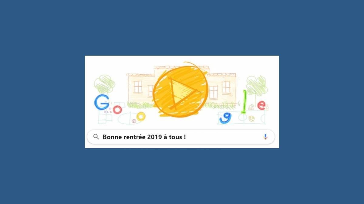 Doodle, Google Bonne rentrée scolaire 2019