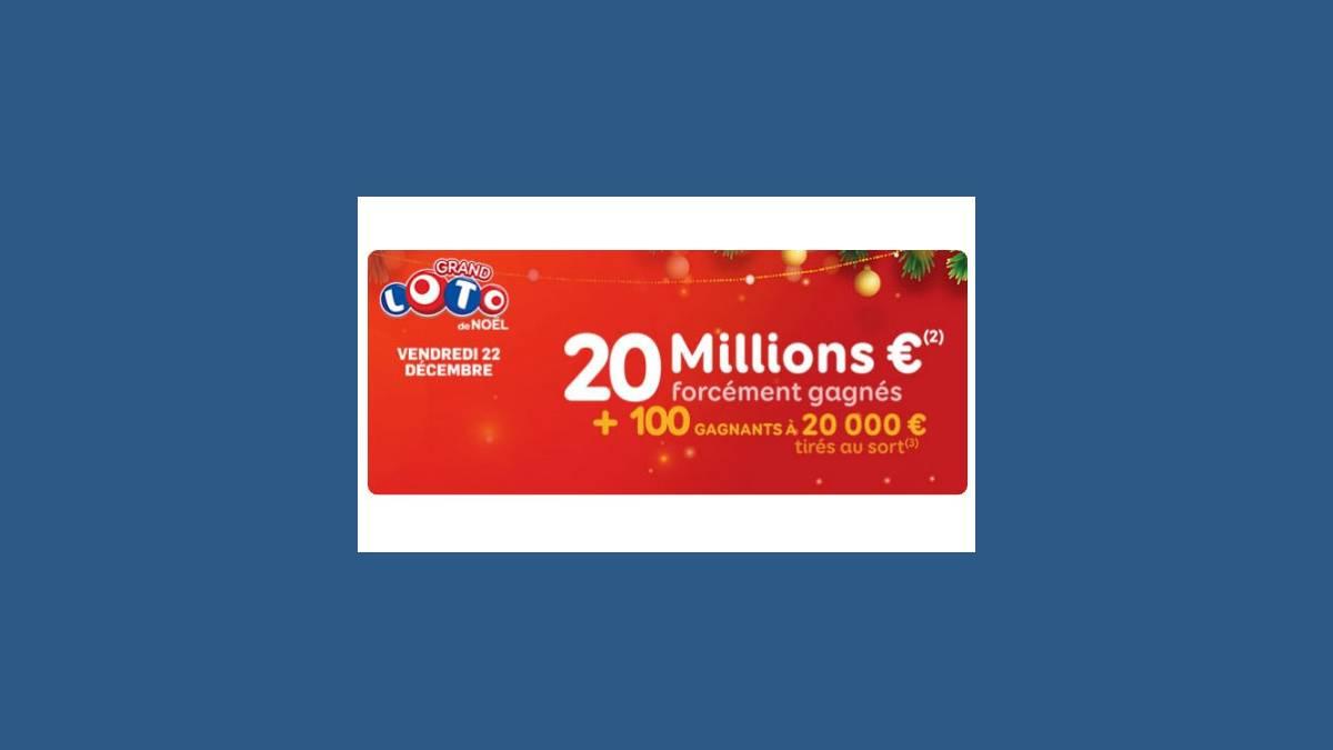 Loto super jackpot de 20 millions d'euros