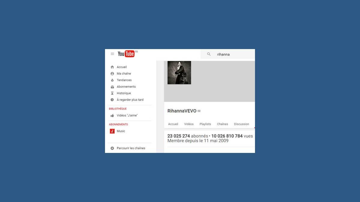 Rihanna 10 milliards de vues YouTube