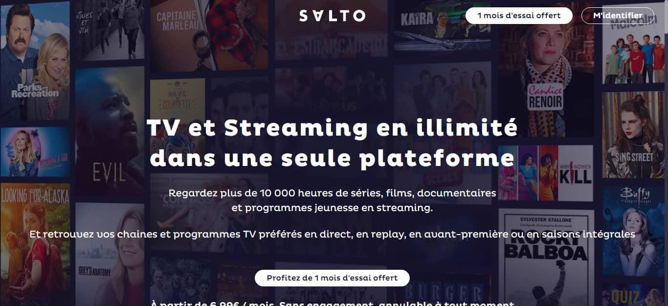 Offre « Salto » TV Live Streaming 1 mois offert