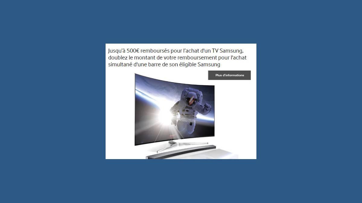 Samsung offre 500 sur les tv led samsung x2 avec une - Meuble tv samsung avec accroche barre de son ...
