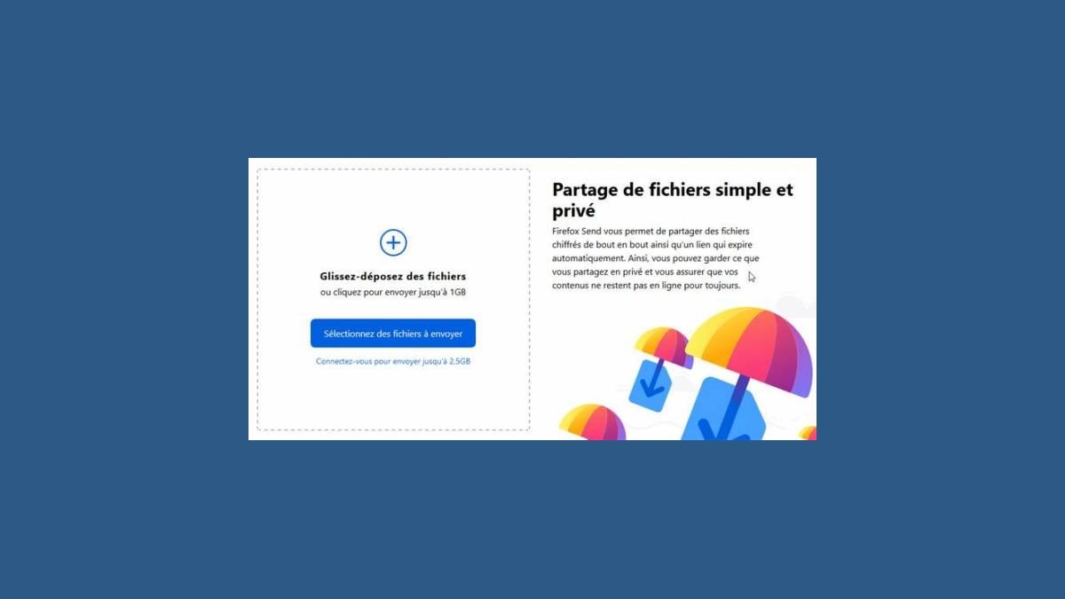 Firefox Send (partage de fichiers)
