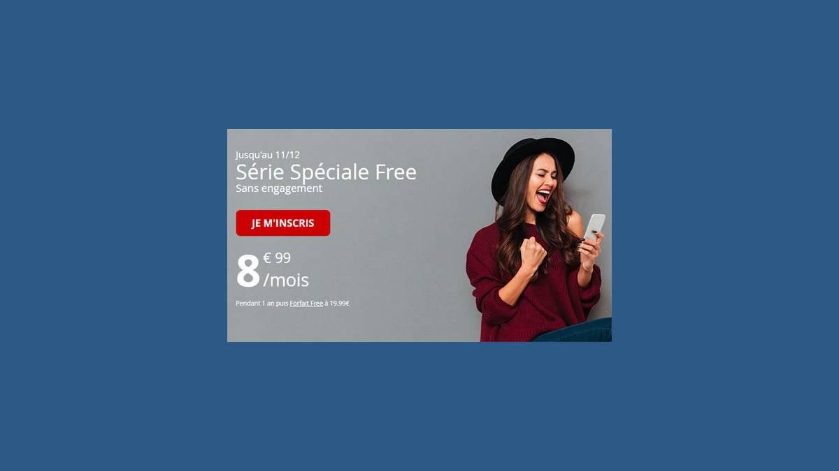 Free Mobile forfait spécial à 8,99 € par mois