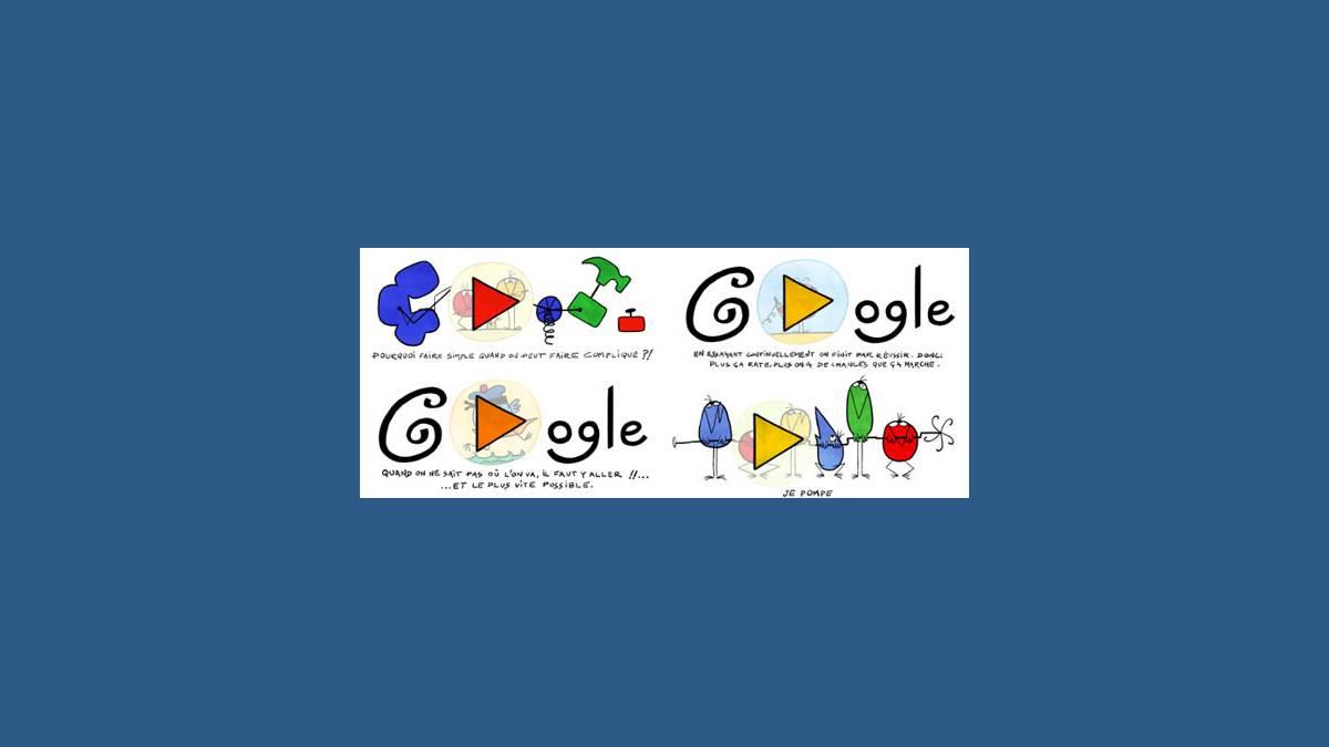 Les 4 Doodles Shadoks sur Google