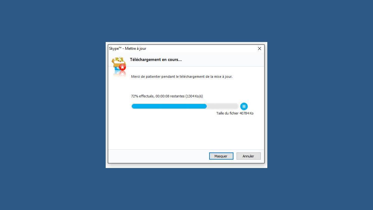 Capture mise à jour Skype 7.24.0.104