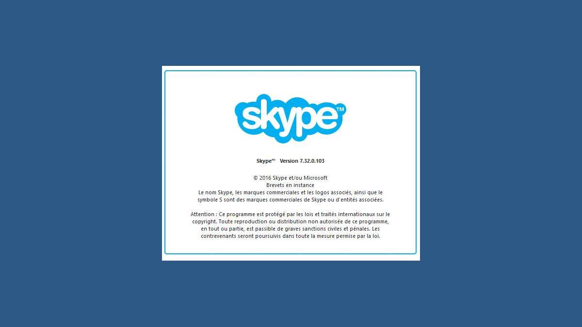 Mise à jour Skype 7.32.0.103