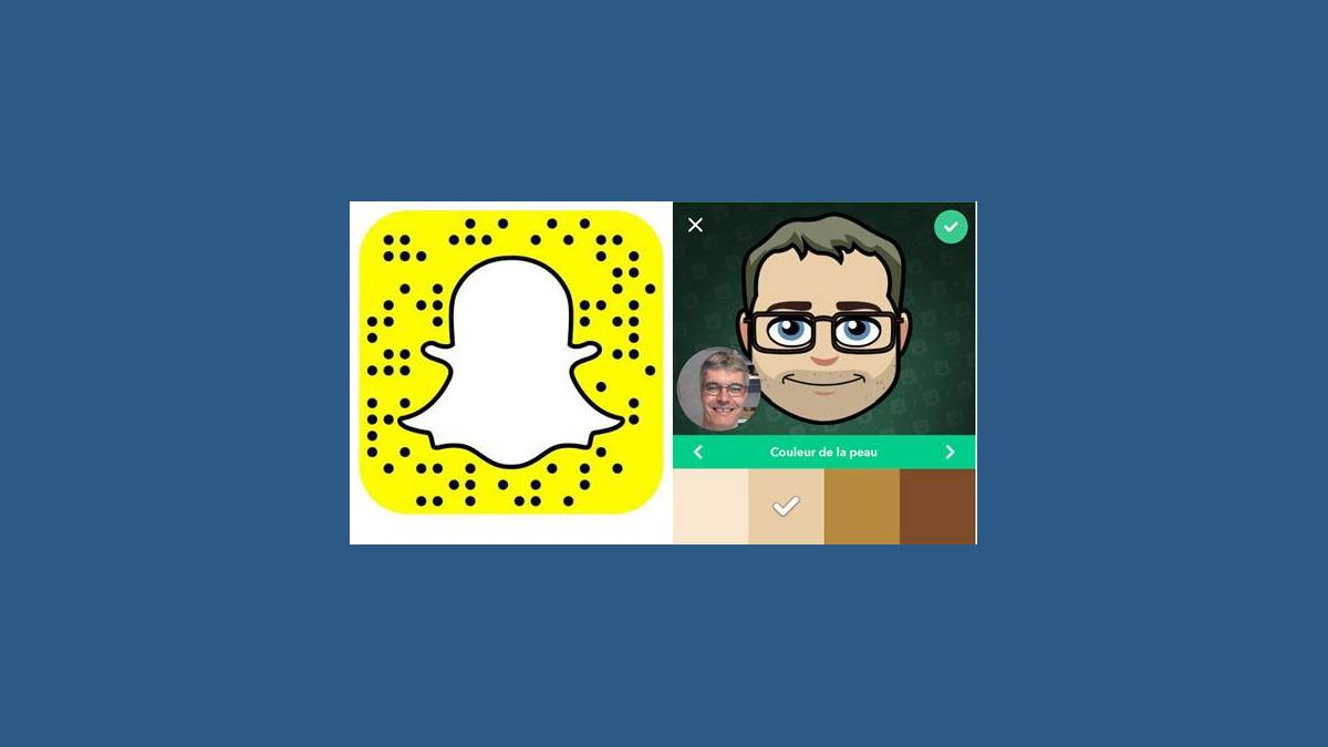 Nouvelle interface Bitmoji Deluxe avec Selfie