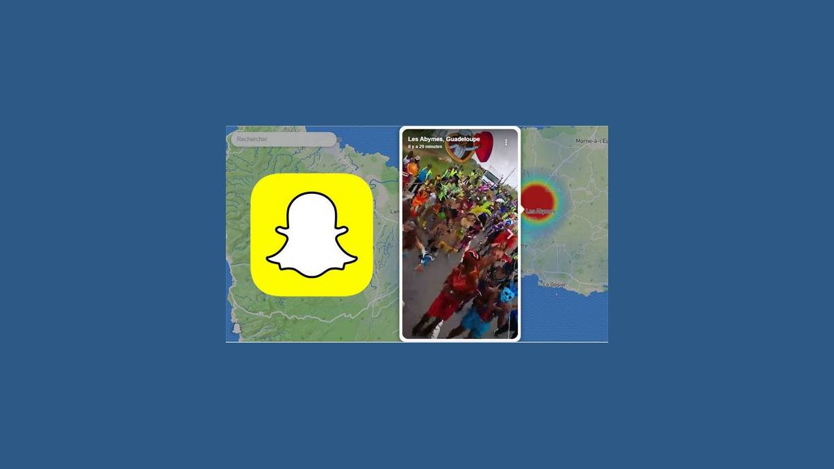 Capture Snap Map sur Chrome (Les Abymes - Guadeloupe)