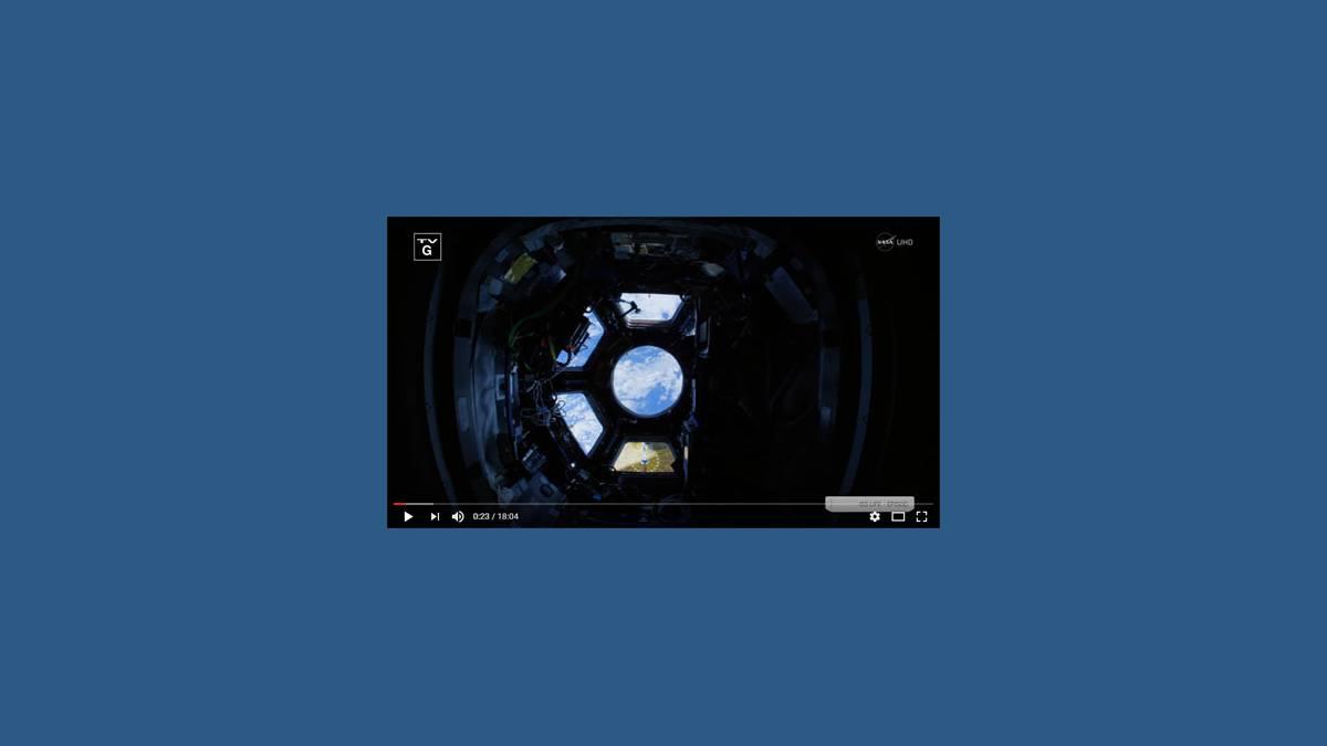 Vidéo Station Spatiale 4K NASA