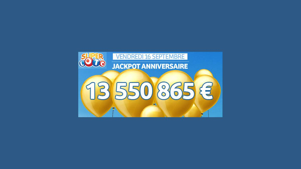 Super loto FDJ vendredi 16 septembre 2016