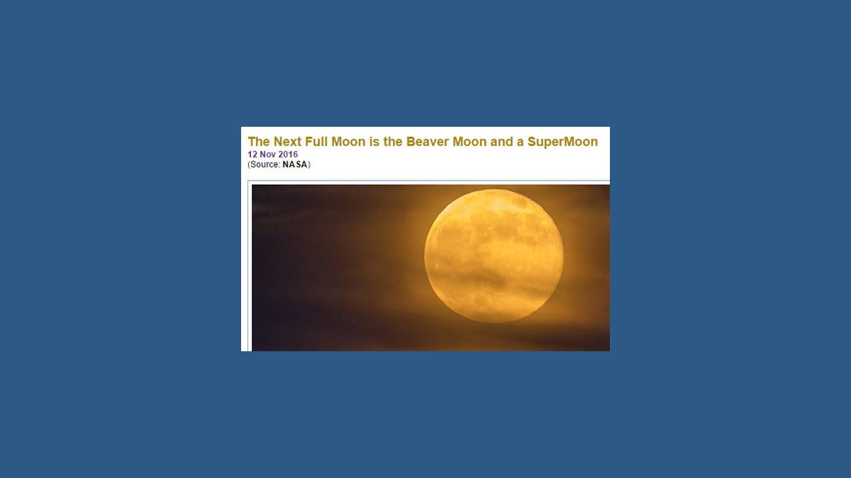SuperMoon - Super Lune (capture Nasa)