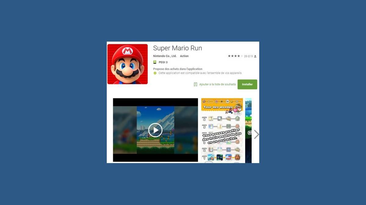 Super Mario Run sur Android est disponible