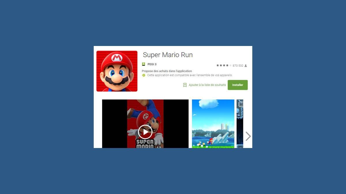 Télécharger Super Mario Run sur Android (Capture modifiée)