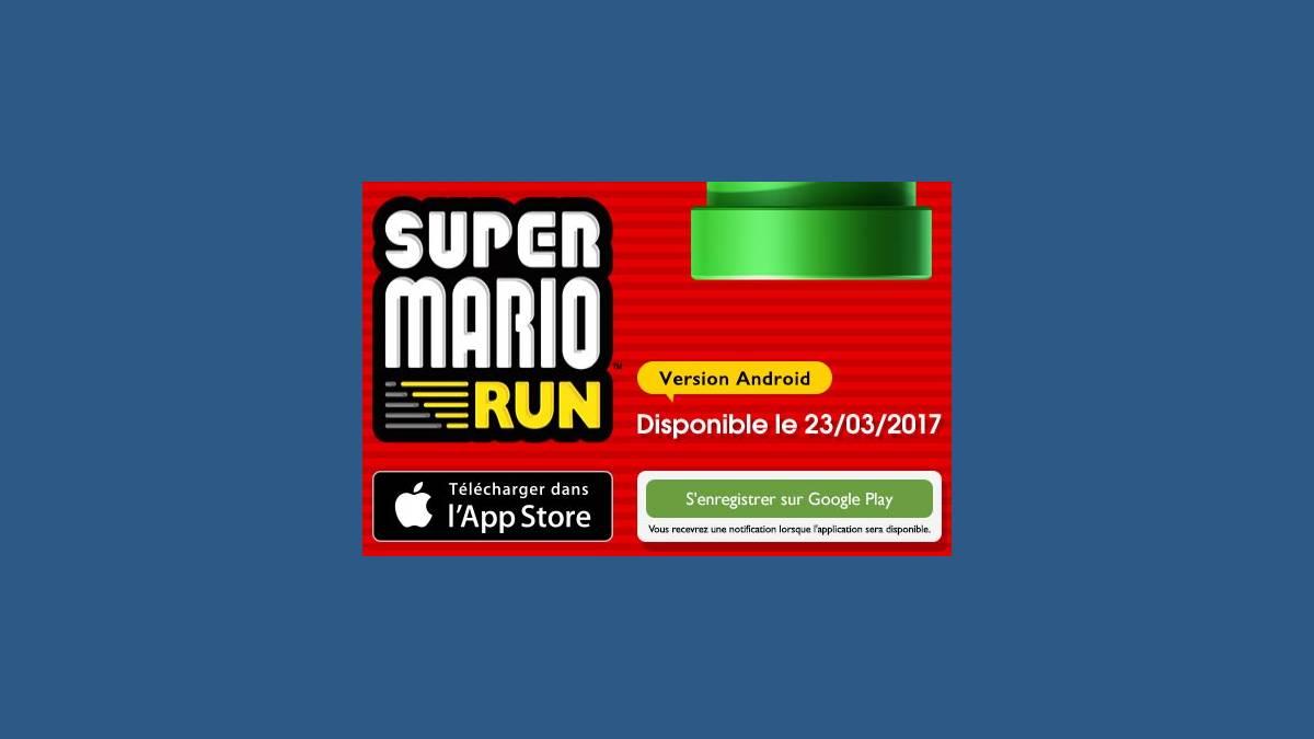 Super Mario Run sur Android le 23 mars prochain